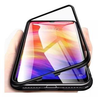 Capa Case Magnetica Glass Redmi 7 + Pel Vidro 3d 9h