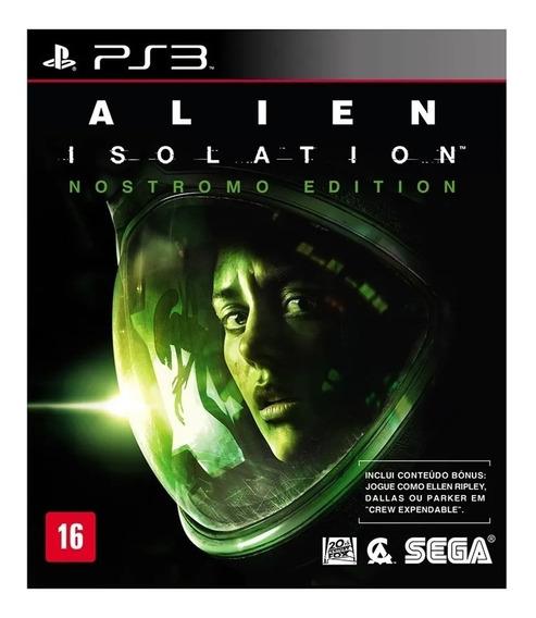 Jogo Ps3 Alien Isolation Midia Fisica Novo Lacrado!