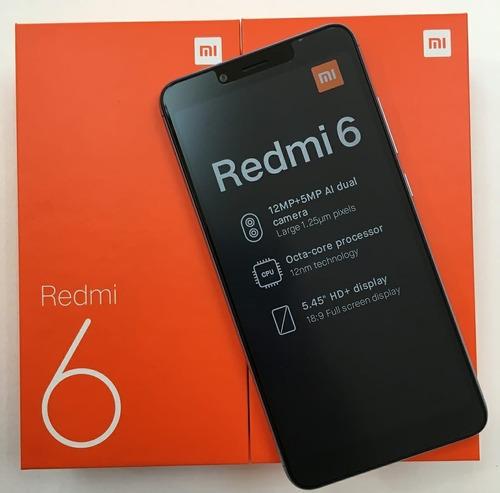 Celular Xiaomi Redmi 6 Black 64gb Ram 3gb