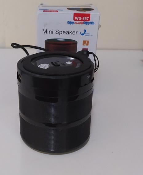 Mini Caixinha De Som Bluetooth Fm Pendrive 9 Horas De Uso
