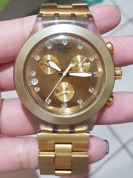 Relógio Swatch Full-bloodedDourado