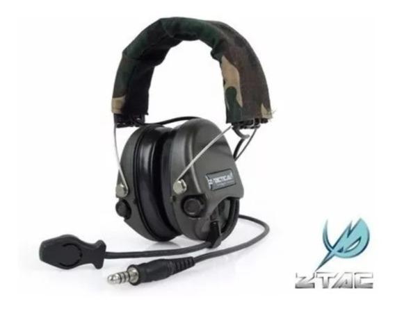Headset Ztac Z111 Sordin Preto/verde/tan Pronta Entrega