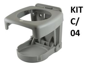 Kit C/ 4 Porta Copos Retrátil Dobrável Barcos Carros