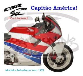 Adesivo Cbr 450sr 1992 Capitão América Mat Importado Oracal