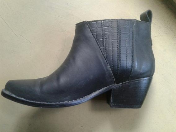 Zapato Botita Talle 35 Negro De Lucuma