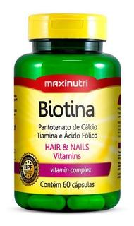 Biotina 60 Cápsulas Maxinutri