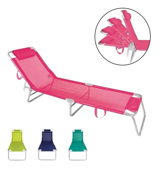 Cadeira Espreguiçadeira Alumínio Praia Piscina 4 Pos - Mor