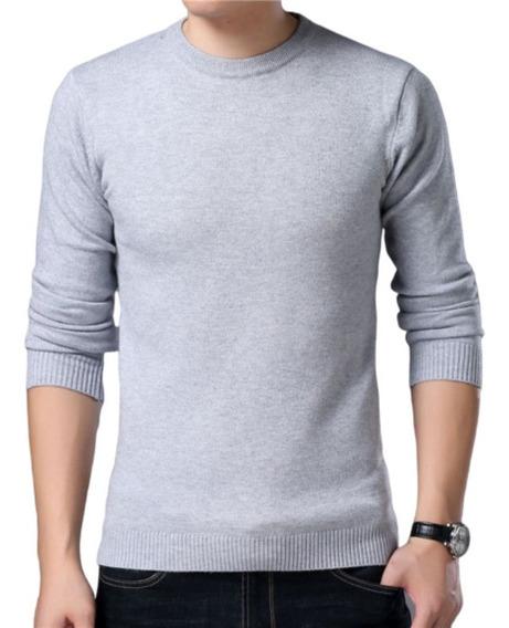Suéter Blusão Masculino Básico Decote Redondo