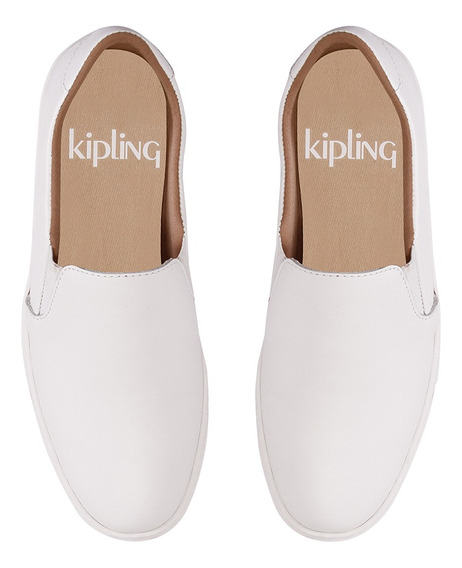 Tênis Iate Couro Branco Kipling