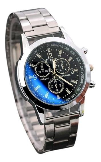 Relógio Masculio Elegânce Muda De Cor Preto E Azul