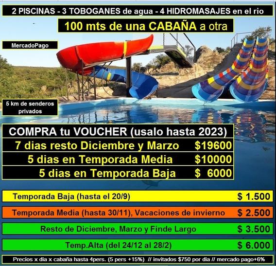 Cabaña Hidromasaje Toboganes Pileta Rio Mina Clavero Cordoba