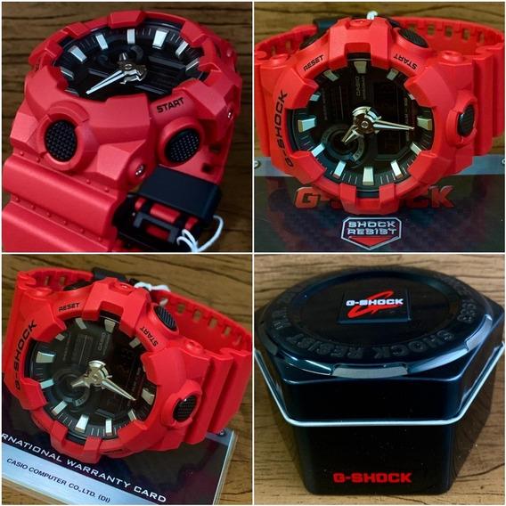 Relógio G-shock Ga-700-4adr Original Caixa E Certificado.
