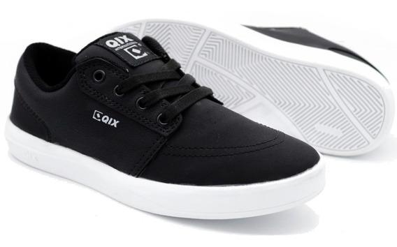 Tênis Qix Skate Next Preto Black Branco Masculino E Feminino Original Envio Imediato Promoção Frete Grátis