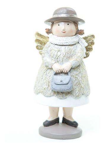 Imagen 1 de 6 de Muñecos Navideños Running Angelito Con Vestido