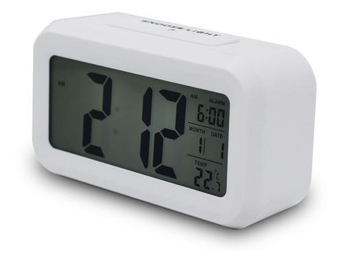 Imagem 1 de 6 de Relógio De Mesa Digital C/ Despertador Light Sensor Original
