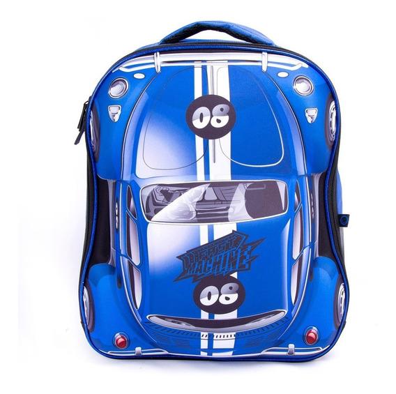 Mochila Fast Machine Original Escolar Infantil Meninos 3d