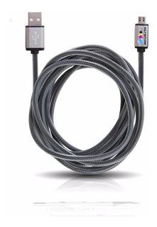 Cable Premium Usb Micro Usb Carga Rapida Datos Mallado 2a