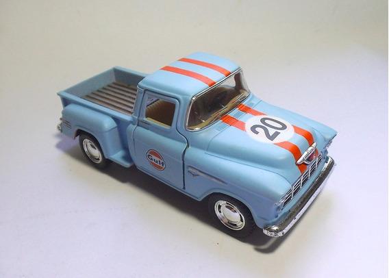 1955 Chevy Stepside- Gulf - 1/32 - Kinsmart - Custom