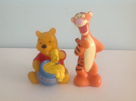 Bonecos Fiu Fiu Ursinho Pooh E Tigrão - 12 Cm