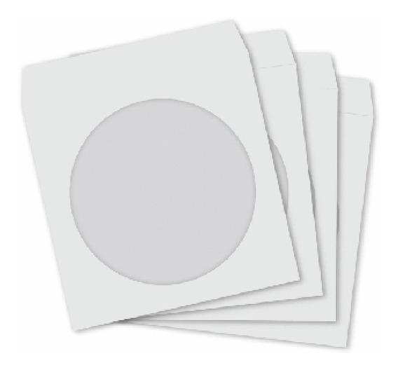 100 Envelopes Papel Para Cd E Dvd Com Visor Transparente !!!
