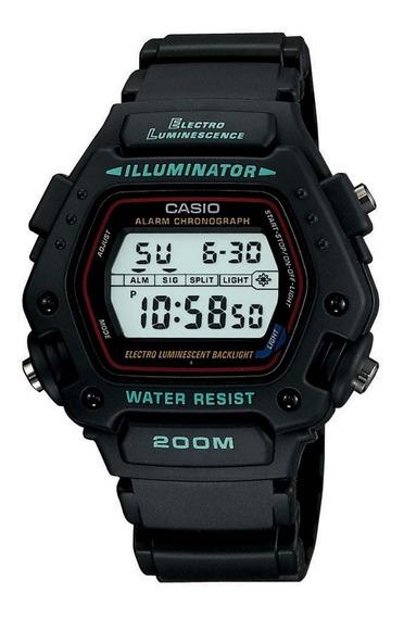 Relógio Casio Dw-290 1vs Cronometro Alarme Wr 200 Metros