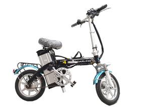 Bicicleta Eléctrica Plegable Negra 250w
