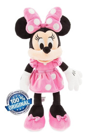 Bicho Pelucia Minnie Original Boneca 48cm Disney Rosa Minie