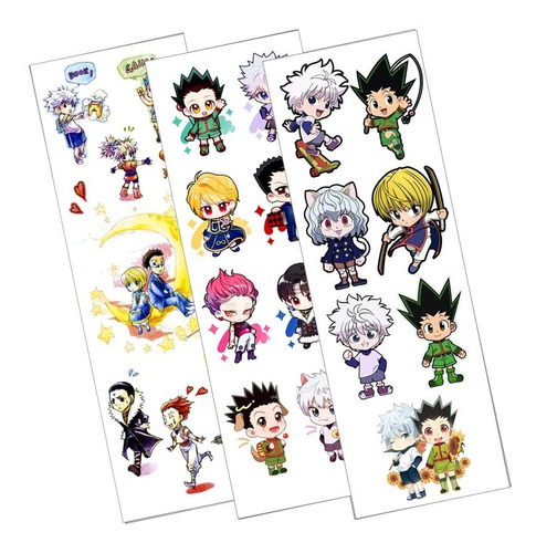 Plancha Stickers De Anime De Hunter X Hunter Killua Gon Leo