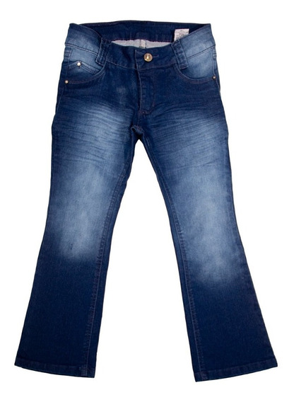 Calça Jeans Infantil Menina Feminina Flare Tamanho 4-6-8.