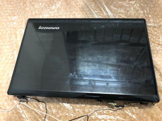 Carcaça Tampa Lcd 14 Lenovo G485 Moldura Dobradiça