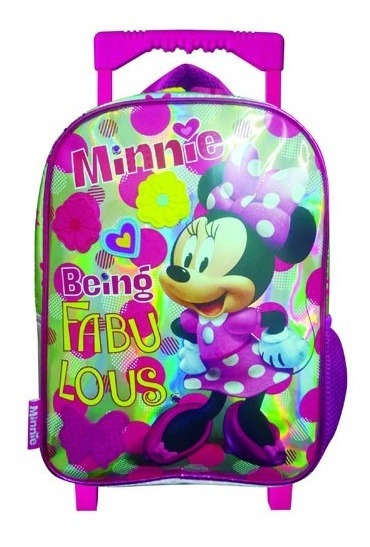 Mochila Infantil Minnie 12 Con Carro (original)