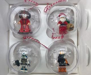 Esferas Navideñas Compatibles Lego C/4 Diferentes Modelos