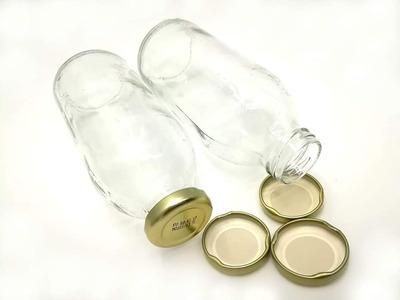 Botellas De Vidrio De 475 Ml Con Tapa Rosca De Metal Unidad
