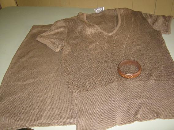 Conjunto De Pollera Y Sweter (pulsera Regalo)