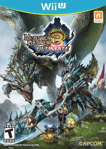 Jogo Novo Monster Hunter 3 Ultimate Para Nintendo Wii U