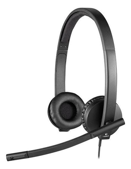 Fone de ouvido Logitech H570E preto