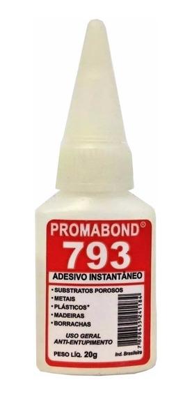 20 Adesivo Instantâneo 793 Secagem Rápida 20g Promabond
