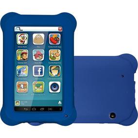 Tablet Kid Pad Azul Tablet M7s + Case Emborrachado Tela 7