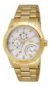 Relógio Masculino Analógico Dumont Dourado Moderno Promoção