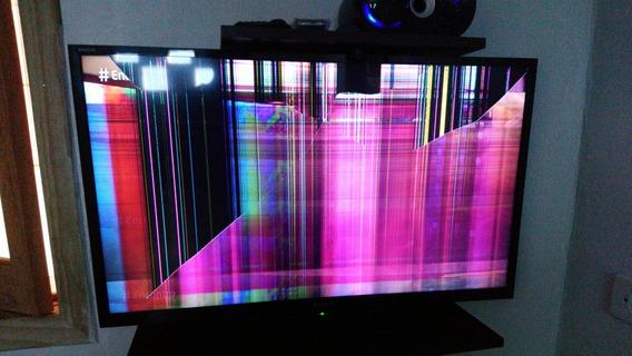 Tv Led 32 Sony Novinha (tela Trincada) Mod. Kdl 32r305b