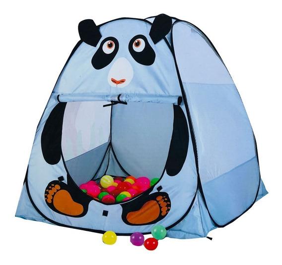Carpa Pelotero Casita Panda Infantil Autoarmable