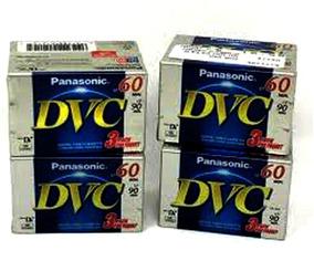 Kit Com 5 Fitas Panasonic Minidv 60 Minutos - Nova E Lacrada
