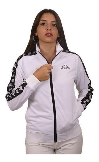 Campera Kappa Authentic Anniston Slim Blanco/negro Mujer