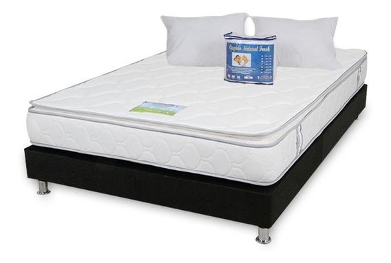 Combo Colchon Pillow Blue 160x190 Base Cama + Obsequio