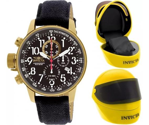 Relógio Invicta I Force 1515 Banhado Ouro Original Maleta