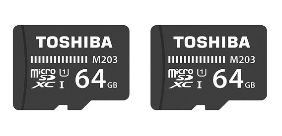 Cartão De Memória 64gb Microsdxc 100mb/s Uhs-i Toshiba 2un