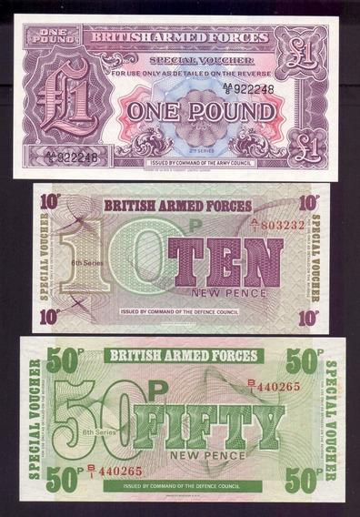 Inglaterra Militar. Lote De 3 Cédulas - Fe