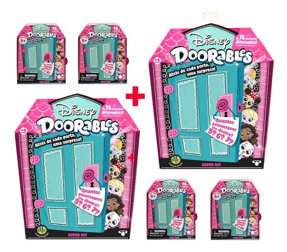 Disney Doorables 2 Super Kit Surpresa + 4 Mini Kit Surpresa