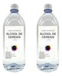 Álcool De Cereais Puro - 2 Litros Frete Barato