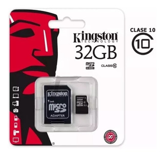 Memoria Micro Sd Kingston 32gb Clase 10 80mb